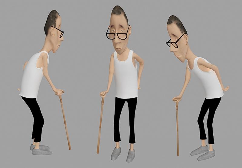 人物角色:走路的老人家