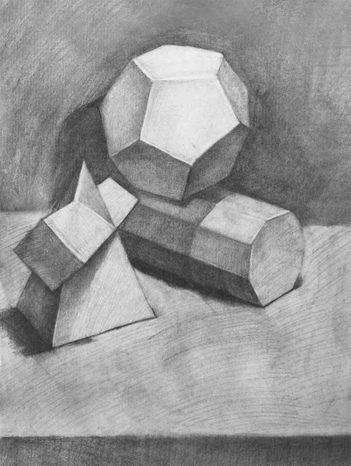 素描几何体(学员作品)